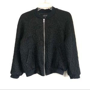 TopShop floral quilted bomber zip up jacket